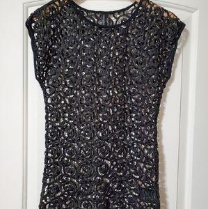 Vintage Guess Black lace top